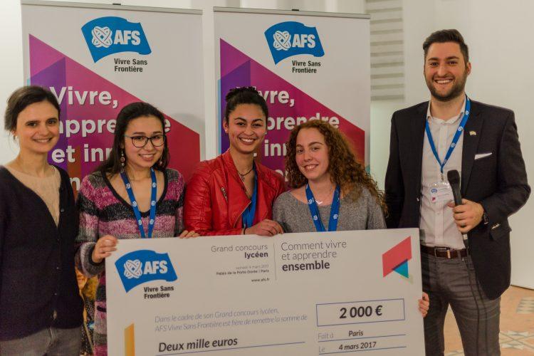 Par Kaoru, José, Jasmine, Francesca, Taarini et Valeria, 6 lycéens accueillis avec AFS à Lille.
